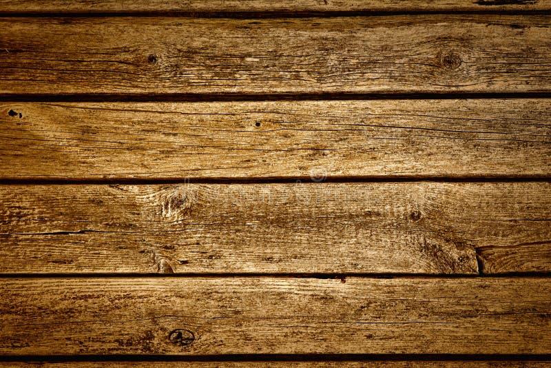 与自然样式的老棕色木纹理 免版税库存照片