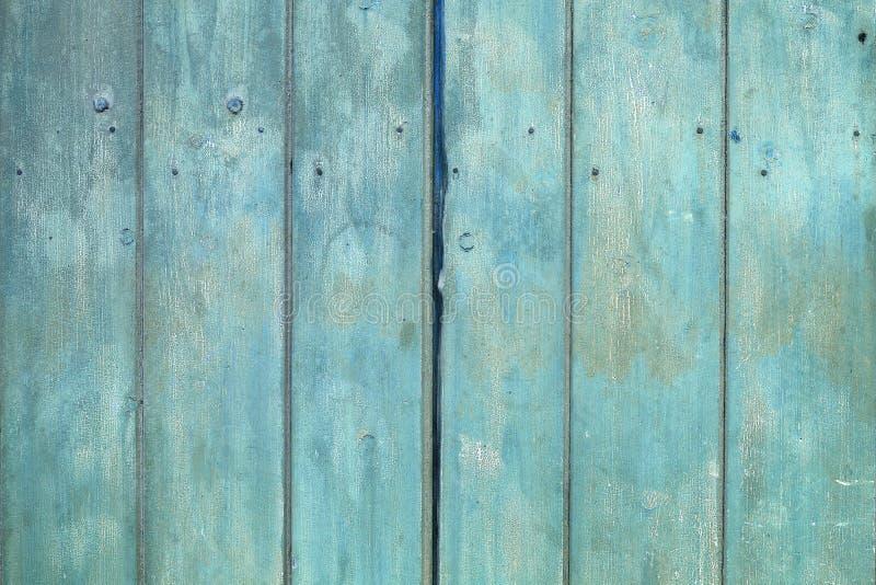 与自然样式的老蓝色木纹理 免版税图库摄影