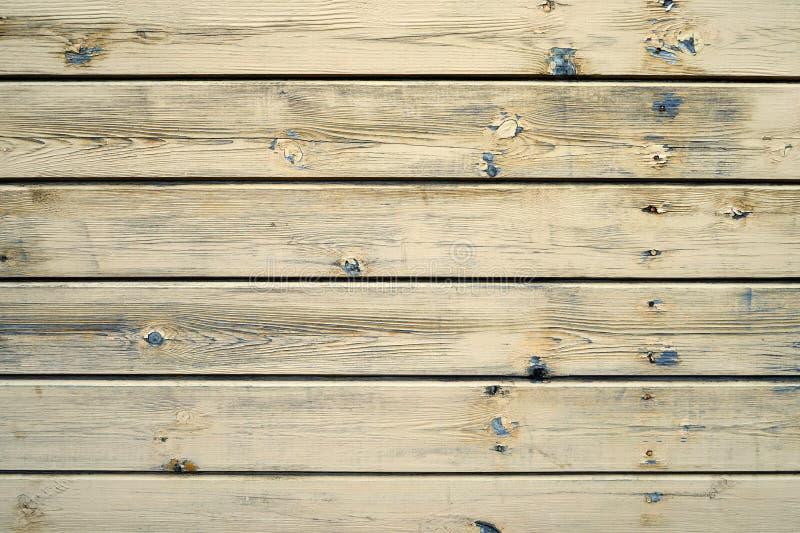 与自然样式的老黄色木纹理 复制空间 免版税库存图片
