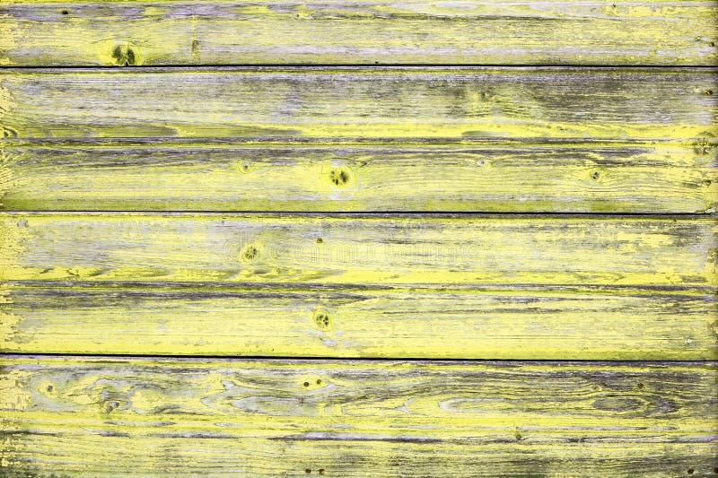 与自然样式的老黄色木纹理 库存照片