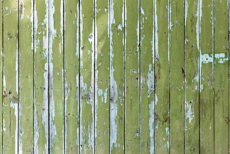 与自然样式的老绿色木纹理 免版税库存图片