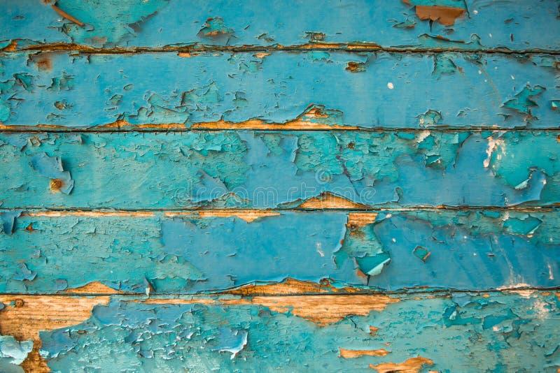 与自然样式的蓝色木纹理背景 库存图片