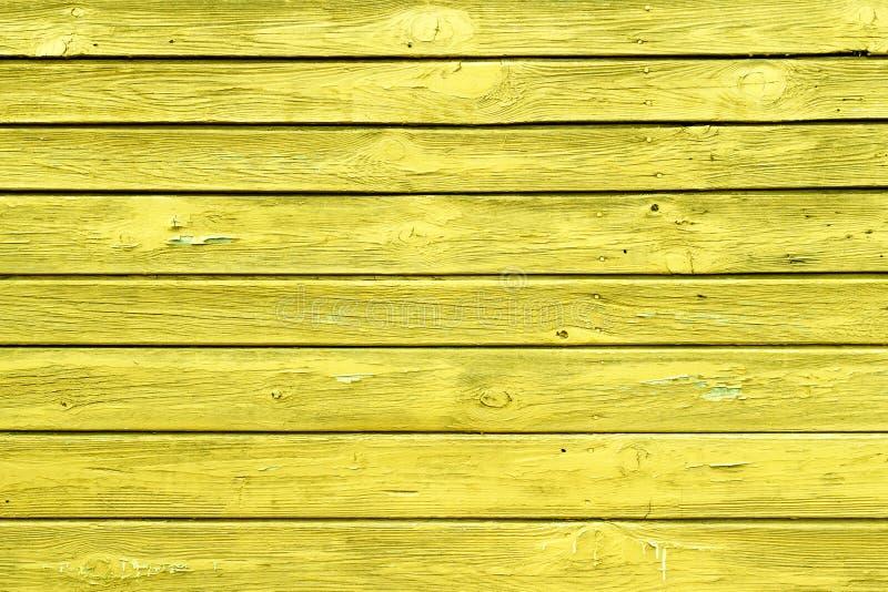 与自然样式的黄色木纹理 库存照片