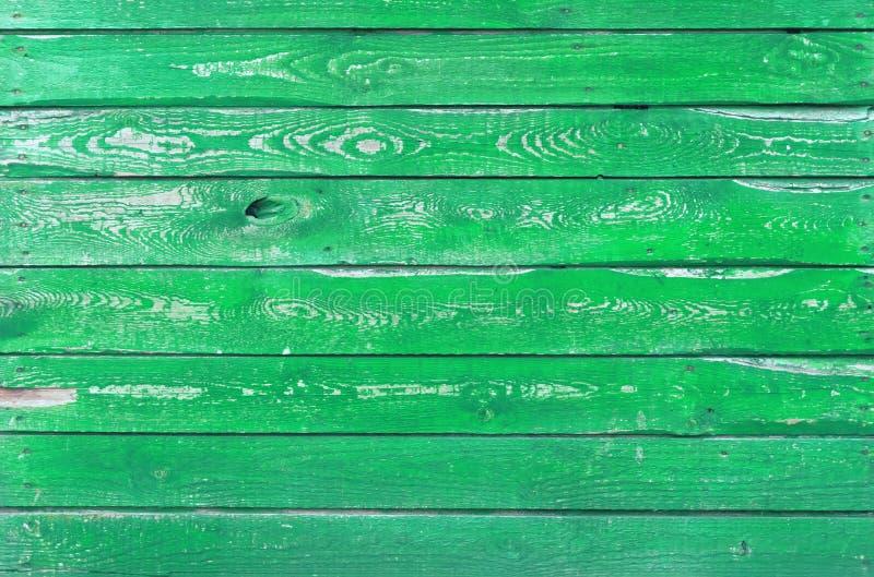 与自然样式的绿色木纹理 免版税库存照片
