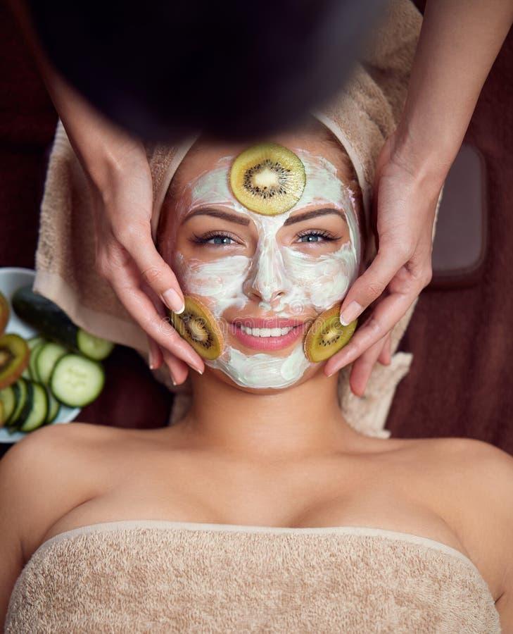 与自然面具的Skincare 免版税库存图片