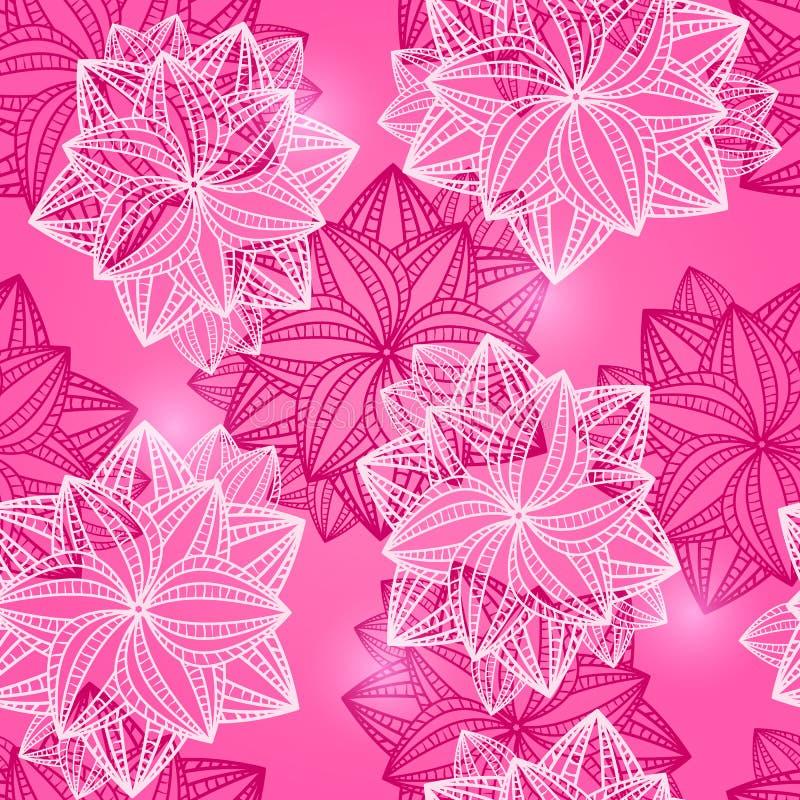 与自由空间的桃红色玫瑰花束文本的 向量例证
