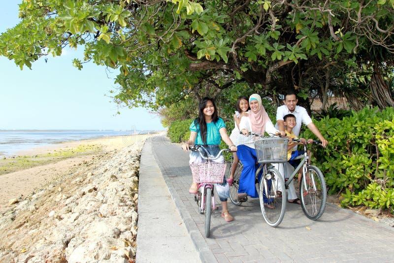 与自行车的愉快的系列 免版税库存照片