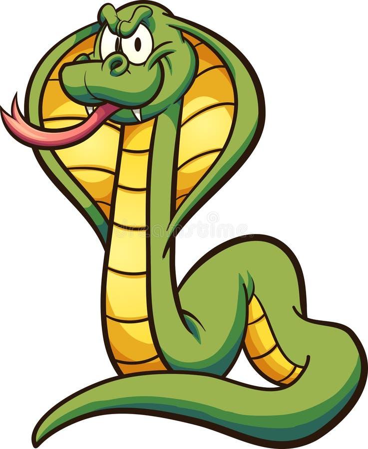 与舌头的动画片眼镜蛇 皇族释放例证