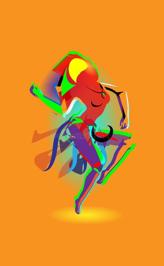 与舞女的多彩多姿的抽象,五颜六色的妇女跳舞 背景去更多我的橙色投资组合看见导航 皇族释放例证