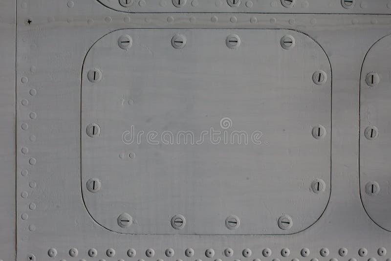 与舱口盖的金属表面 免版税图库摄影