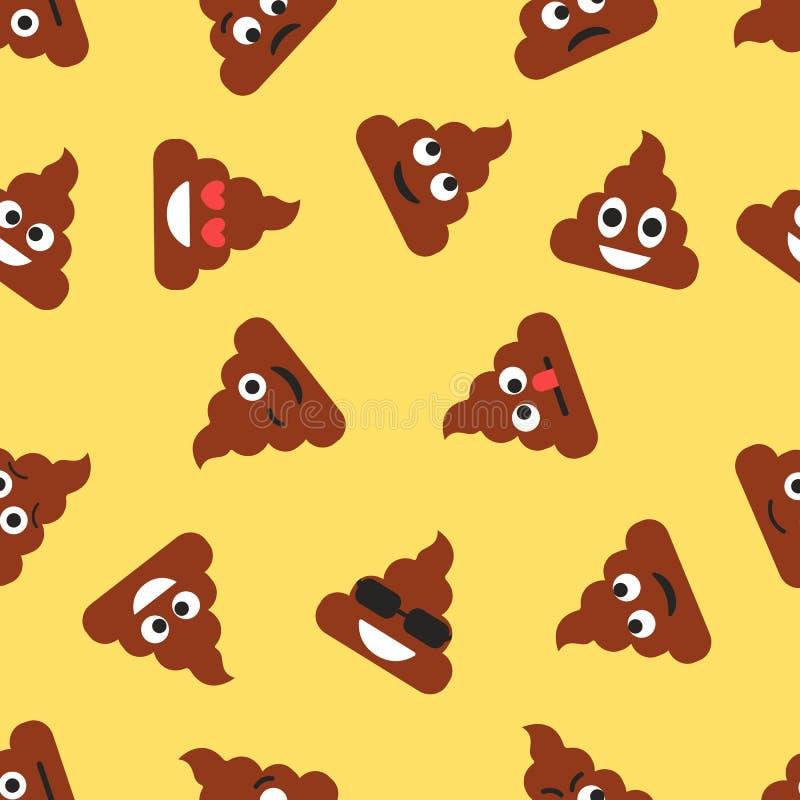与船尾emojies的无缝的样式 意思号背景 纹理 皇族释放例证