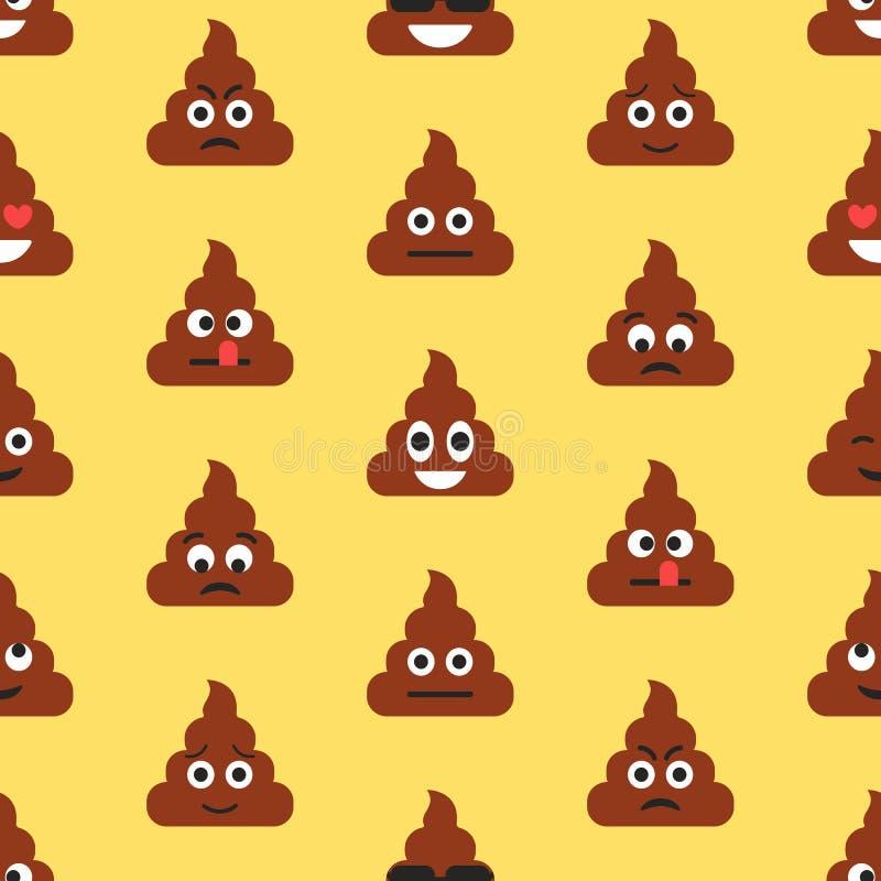与船尾emojies的无缝的样式 意思号背景 纹理 库存例证