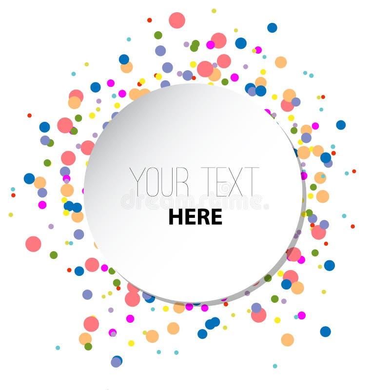 与色环样式的白色圆的背景 传染媒介纸例证 向量例证