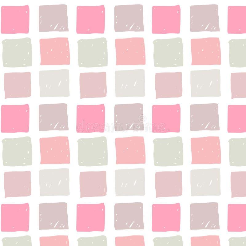 Download 与色的手拉的正方形的传染媒介无缝的样式 库存例证. 插画 包括有 粉红色, 乱画, 虚拟, 珊瑚, 现有量 - 72360181