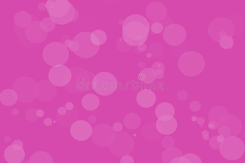 与艺术性的圈子的桃红色Bokeh背景在白色 皇族释放例证
