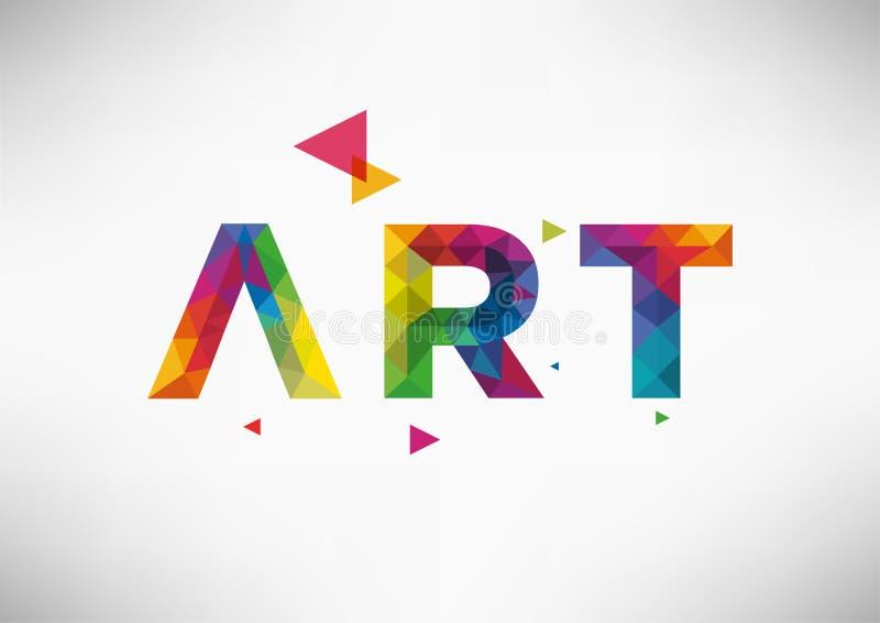 与艺术词的现代几何传染媒介设计 库存图片