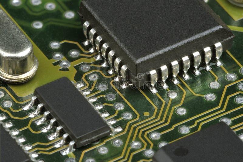 与芯片的PCB 免版税图库摄影