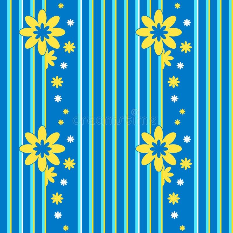 与花卉元素的传染媒介无缝的样式 皇族释放例证
