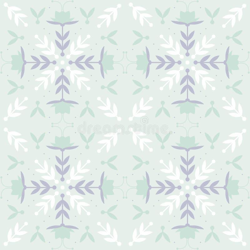 与花卉元素的抽象无缝的样式 皇族释放例证