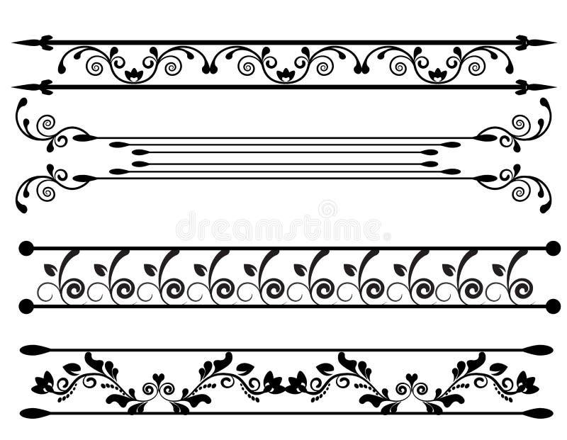 与花卉元素的装饰品 皇族释放例证