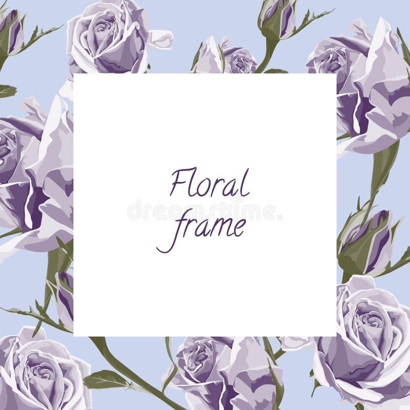 与花卉花圈的贺卡 概念感谢您 美好的背景 皇族释放例证