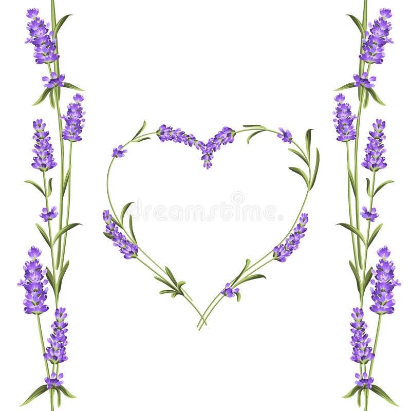 与花和文本地方框架的淡紫色典雅的卡片  您的文本介绍的淡紫色诗歌选 阿诺德 向量例证