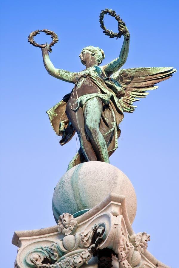 与花圈的天使 库存图片