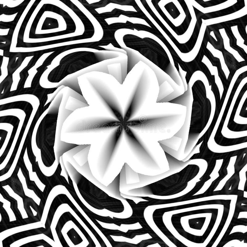 与花形式的黑背景例证艺术 向量例证