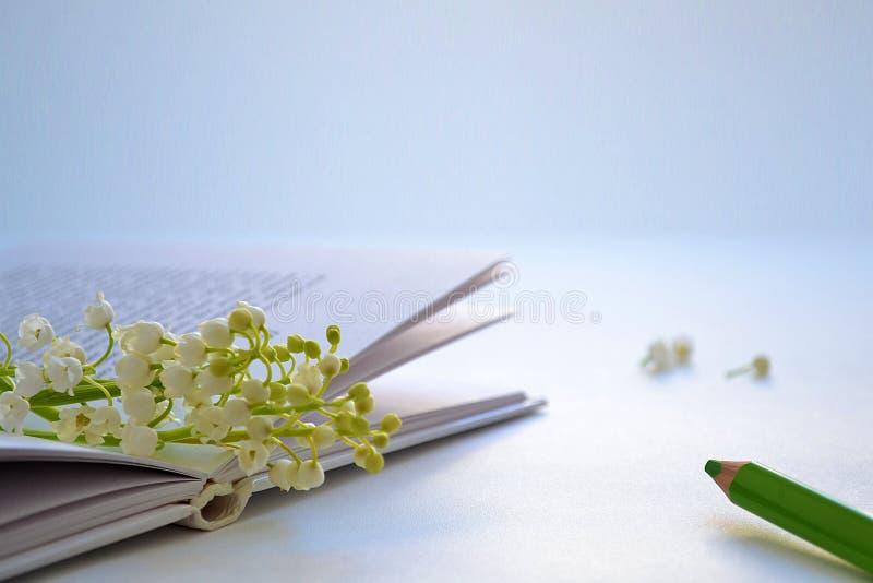 与花的书 免版税库存照片