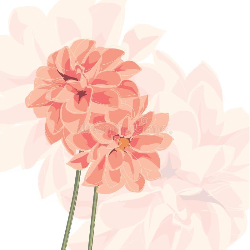 与花的传染媒介背景 库存例证