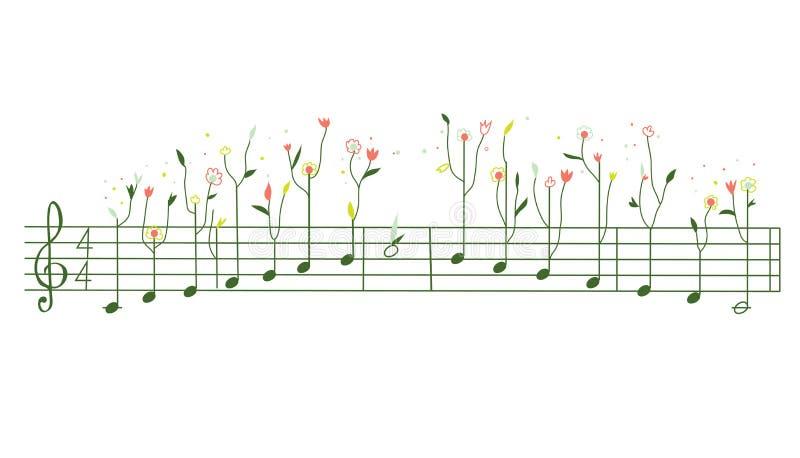 与花的曲调-伽玛例证 皇族释放例证