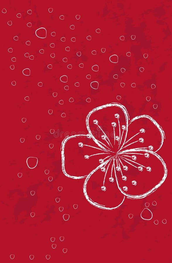 Download 与花的红色背景 向量例证. 插画 包括有 装饰, 樱桃, 看板卡, 透明, 季节, 活动, artsiest - 30326388