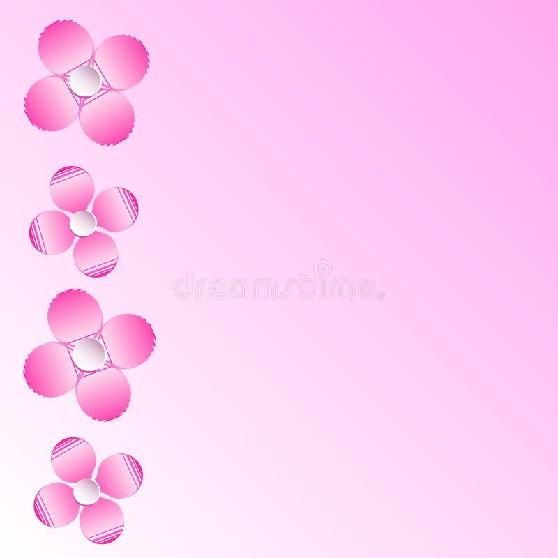 与花的背景由纸制成 例证 皇族释放例证