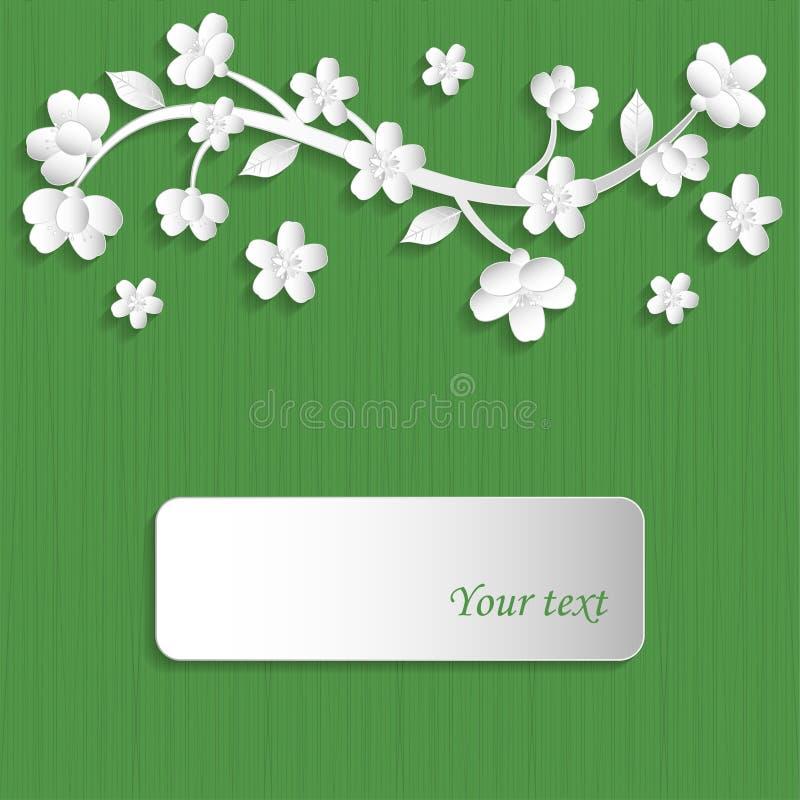 与花的背景 库存例证