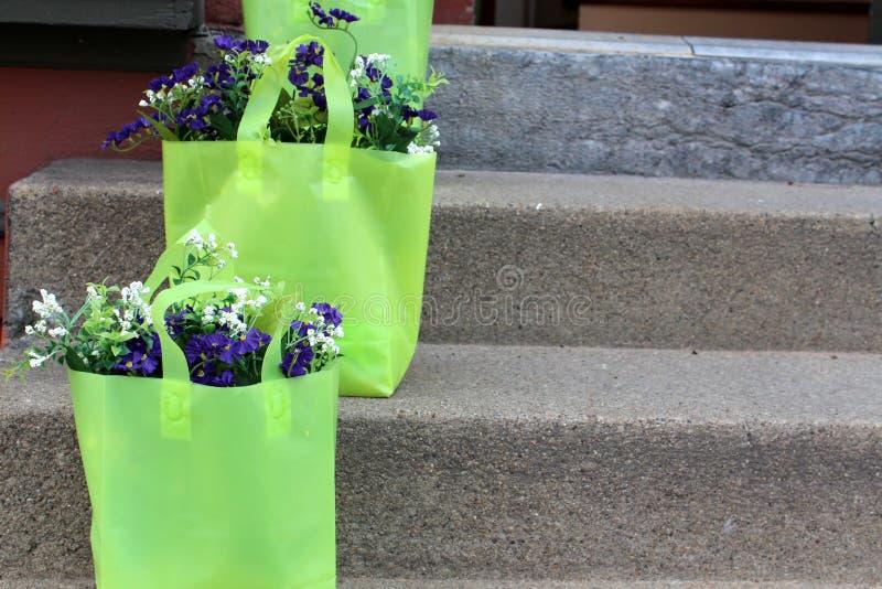 Download 与花的绿色礼物袋子 库存照片. 图片 包括有 礼品, 步骤, 花卉, 花束, 从事园艺, 五颜六色, 欢迎 - 30338828