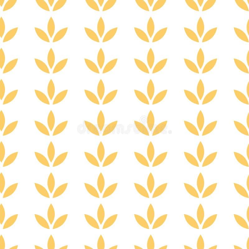 与花装饰品的花卉纸无缝的样式在黄色夏天上色传染媒介例证 皇族释放例证