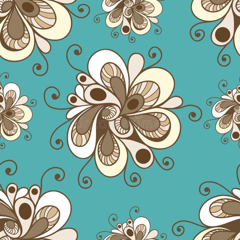 与花饰1的无缝的样式 皇族释放例证