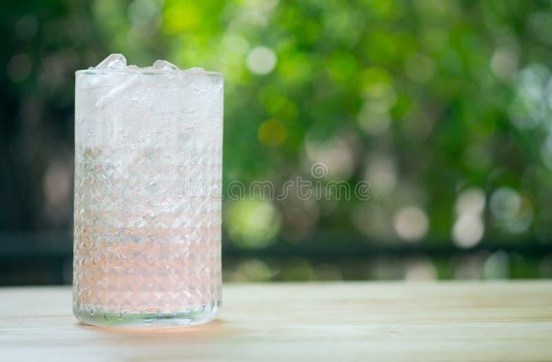 与苏打的Lychee泡沫腾涌的饮料,夏天饮料 图库摄影