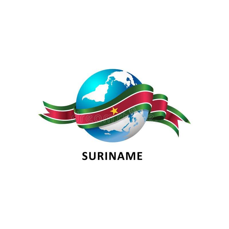 与苏里南旗子的世界 图库摄影