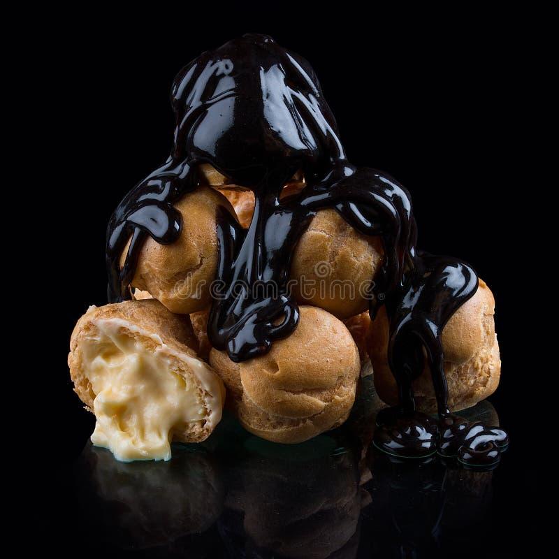 与英国奶油的微型小饼 免版税图库摄影