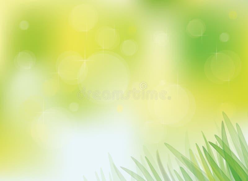 与草的传染媒介晴朗的春天背景。 向量例证