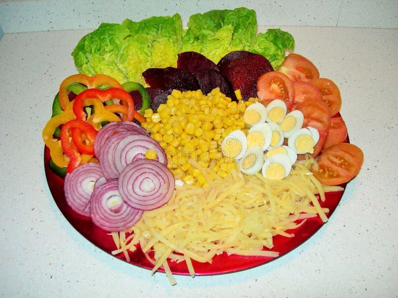 与菜味道的健康生活 免版税库存图片