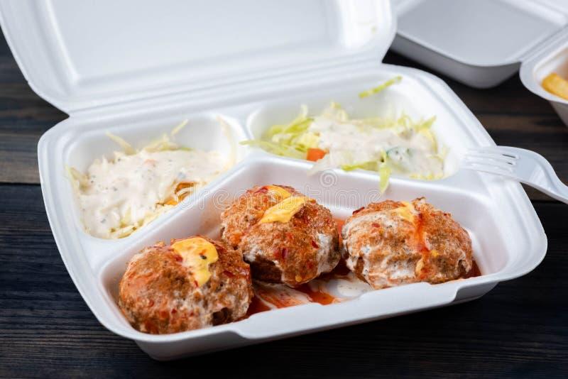 与菜的沙拉三明治 免版税库存图片
