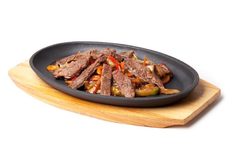 与菜的肉 库存照片