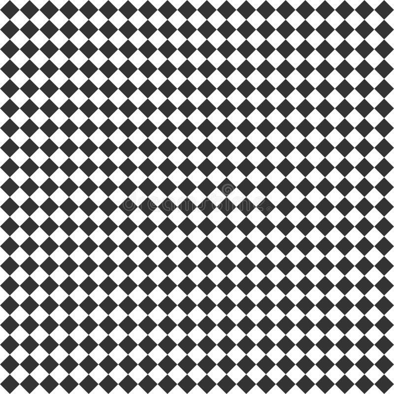 与菱形瓦片的无缝的抽象背景 对角棋几何样式 库存例证