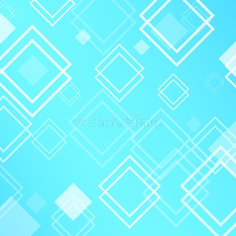 与菱形的抽象背景 库存例证