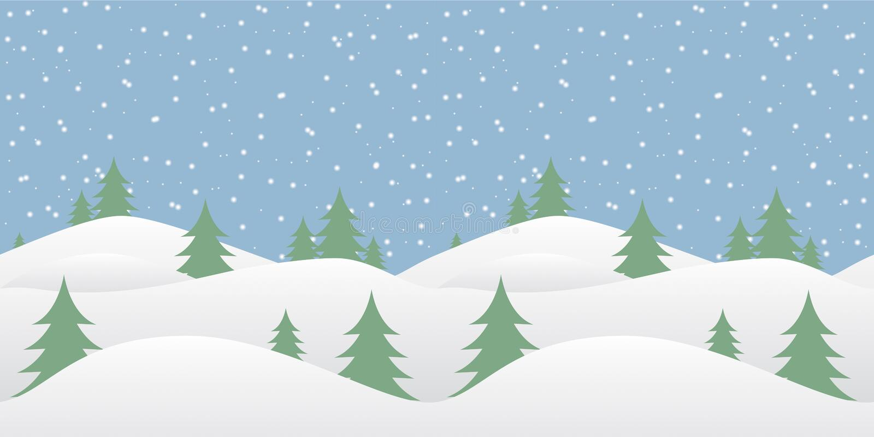 与落的雪的无缝的冬天背景 库存例证