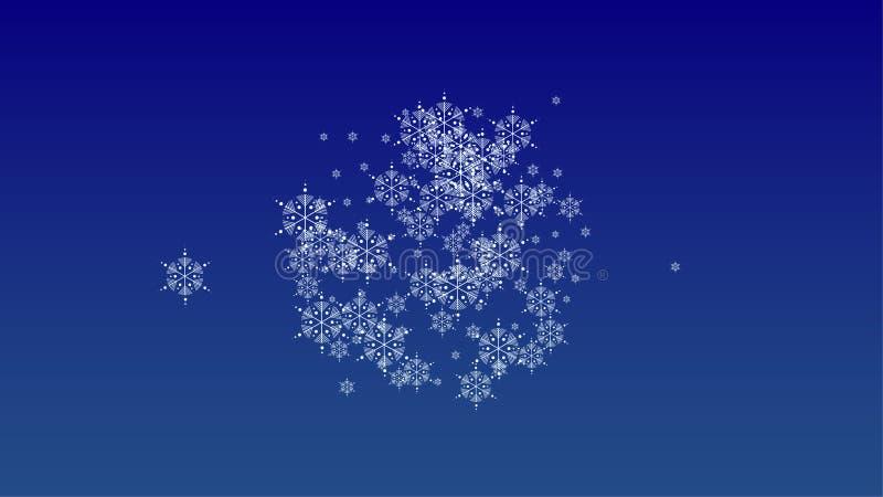 与落的雪花的美好的圣诞节背景 皇族释放例证