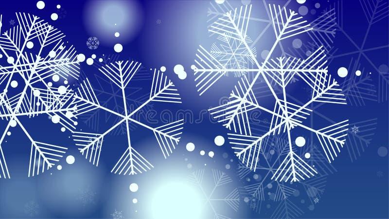 与落的雪花的美好的圣诞节背景 库存例证