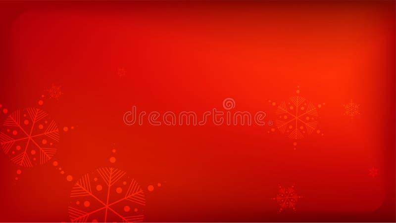 与落的雪花的美好的红色圣诞节背景 在红色背景的传染媒介落的雪花 n 向量例证